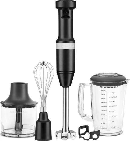 KitchenAid - Stainless Steel Hand Blender Set 5KHBV83, onyx black