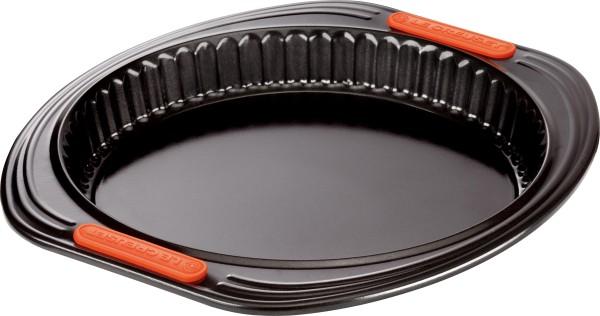 Le Creuset - Quicheform 26 cm mit Hebeboden, schwarz  schwarz