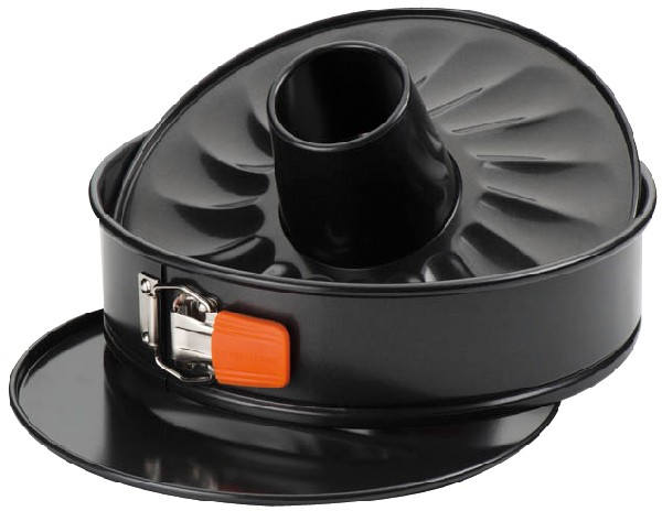 Le Creuset - spring form 26 cm with tube floor, black
