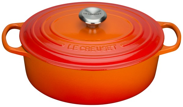 "Le Creuset - cast iron roaster ""Signature"" 29 cm, oven red"