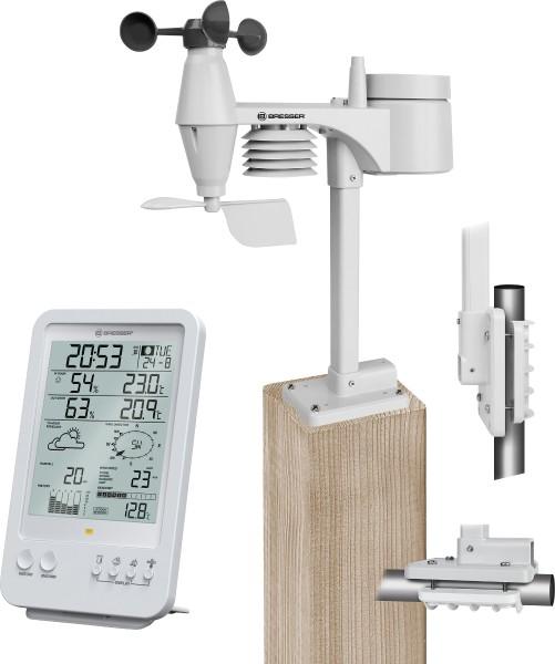 Bresser - wireless weather center with 5-in1 multisensor, white