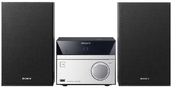 Sony - Micro-System CMT-SBT20B, schwarz/silber  silber/platin