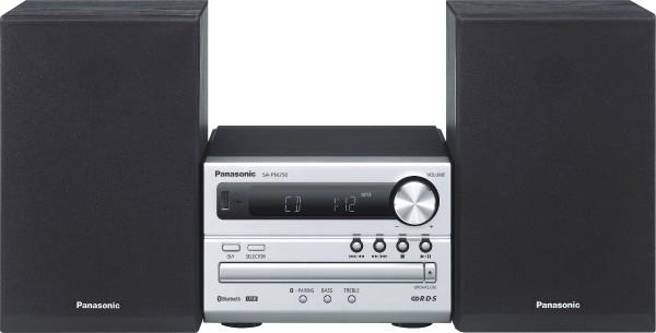 Panasonic - HiFi-Micro-System SC-PM250, silber  silber/platin