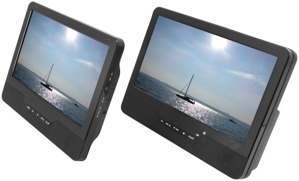 soundmaster - mobiler Dual-DVD-Player PDB 1800, schwarz schwarz