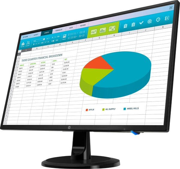 HP - LED monitor N246v 60,45 cm, energy efficiency class A+, black