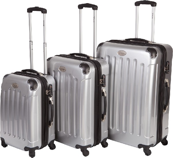 Vior by Mape - Trolley-Set 50+60+70 cm, silber