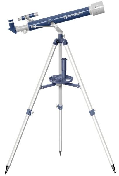Bresser - Refraktor-Teleskop 60/700 im Koffer, blau/grau