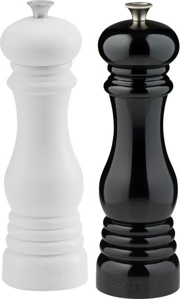 Le Creuset - salt and pepper mill set of 2, black & white